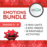 Emotion Management Middle School Bundle | Prezis & Printable Activities