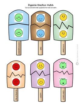 Emotion Match Popsicles