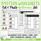 Emotion Matching Cut & Paste Worksheets: Halloween