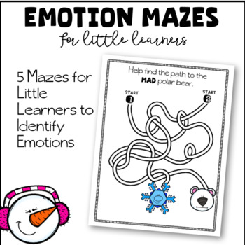 Emotion Mazes For Little Learners