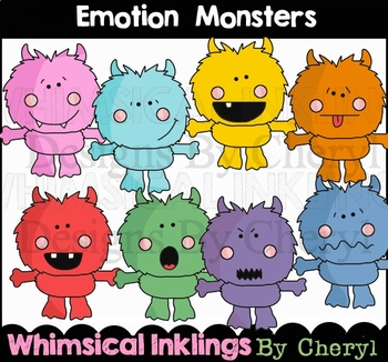 Emotion Monsters Clipart Collection