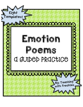 Emotion Poems: A Poetry Guided Practice Writing Center