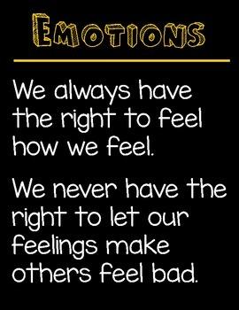 Emotion Poster (black background)