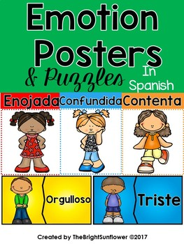 Emotion Posters & Puzzles in Spanish