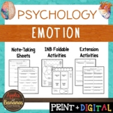 Emotion - Psychology Interactive Note-taking Activities