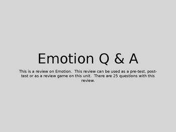 Emotion Q & A
