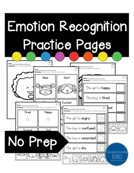 Emotion Recognition Practice Pages