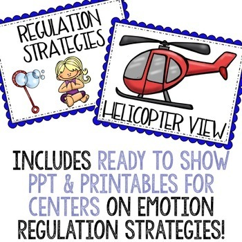 Self Regulation Centers: Emotion Regulation Activities Classroom Guidance Lesson