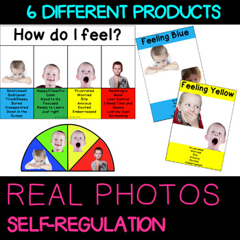 Self Regulation Tools: Real Photo Feelings/Emotion pack