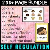 Self regulation Emotions: Zones Student Workbook + 10 Session Plans - Elementary