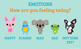 "Emotion Scale Poster ""How are you feeling today?"" 8 1/2 x 14"