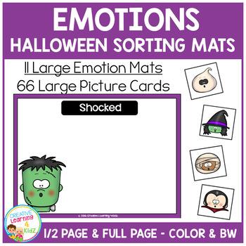 Emotion Sorting Mats: Halloween