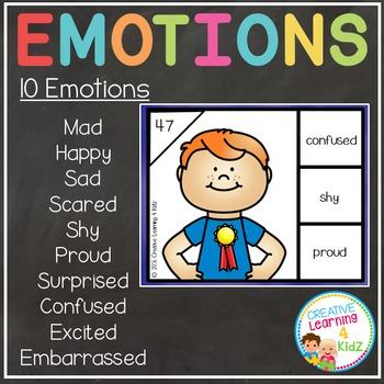 Emotion Task Cards