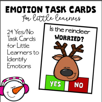 Emotion Task Cards For Little Learners