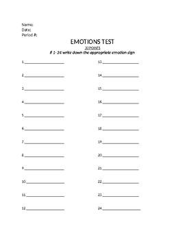 Emotion Test