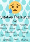 Emotion Thesaurus for Creative Writing SAD