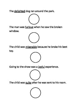 Emotion Vocabulary Test