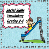 Emotion & Social Skills Vocabulary Words-(Elementary Socia