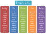 Emotion Words Poster/Flyer/Reference
