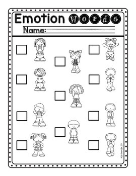 Emotion Words: Write the Room [FREE]