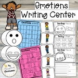Emotion Writing Center, Word Wall Cards, Writing Prompts,
