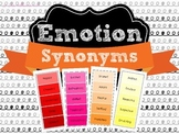 Emotion and Feeling Words and Synonyms