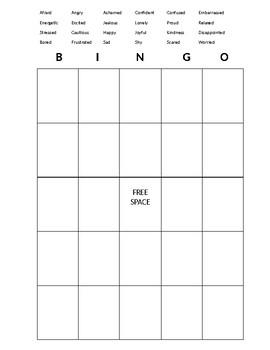 Emotion definitions and bingo