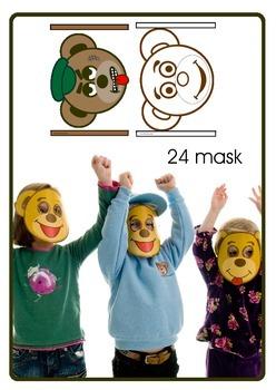 Emotion masks Kooky Bear