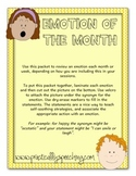 Emotion of the Month Packet for Social Language/Autism