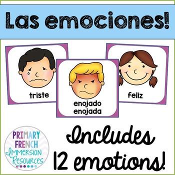 Emotion posters - Spanish - Las emociones