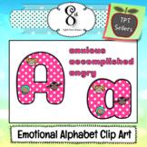 Emotional Alphabet Letter and Number Clip Art