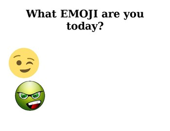 Emotional Check In and Reflection with EMOJIS~Weekly Reflection and Goal Setting