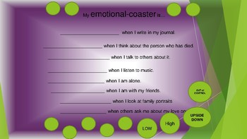 Emotional-Coaster grief & feelings lesson