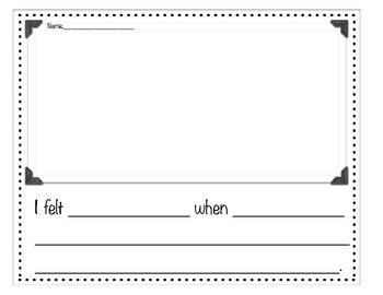 Emotional Connections Comprehension Organizer