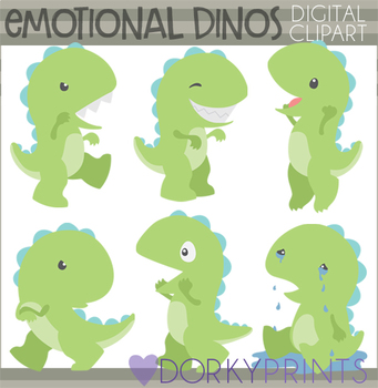 Emotional Dinosaurs Clipart