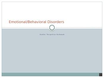 Emotional Disturbance PPT