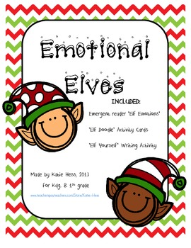 Emotional Elves - 3 pack of Elf-themed activities about feelings