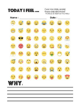 Emotional Emoji Check in Bundle