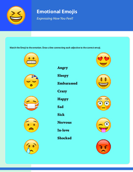 Emotional Emojis - Adjectives of Emotion