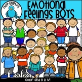 Emotional Feelings Boys Clip Art Set - Chirp Graphics