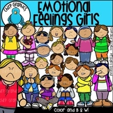 Emotional Feelings Girls Clip Art Set - Chirp Graphics