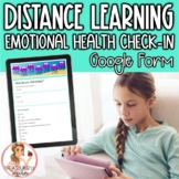 Emotional Health Check-In | Distance Learning Resource
