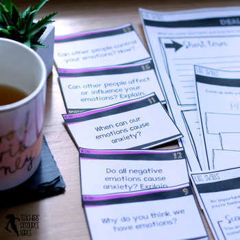 Emotional Health and Anxiety (PowerPoint, Printables & Discussion Cards)