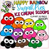 SugahPie Ice Cream Scoops Clipart -Happy
