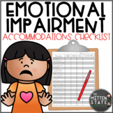 Emotional Impairment Accommodation Checklist