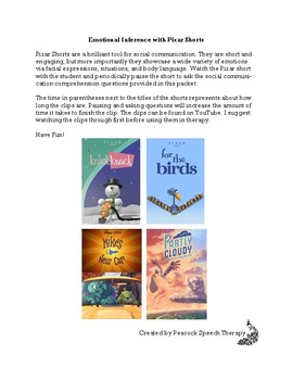 Emotional Inference with Pixar Shorts