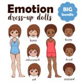 Emotional Intelligence Bundle: Emotion Paper Dolls + Emotions Board Game