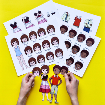 Emotional Intelligence Bundle: Emotion Paper Dolls + Emotions Board Game