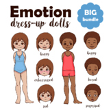 Emotional Intelligence Bundle: Emotion Paper Dolls + Emoti