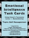 Emotional Intelligence Task Cards Using Bloom's Level 1, T